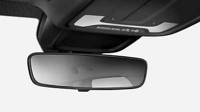 Dimming breakaway interior rearview mirror