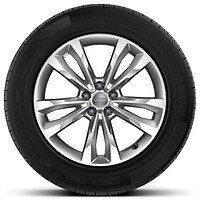 Cast alloy wheels, 5-spoke V-style, 8.5J x 19 with 255/55 R19 tires