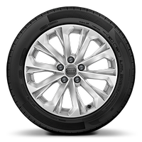 Alloy wheels, 10-spoke crystal style, 7.5J x 17, 225/50 R17 tires