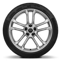Alloy wheels 8.5J x 19 in front, with 11J x 19 in rear