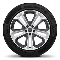 "19"" x 8.0J '5-double-spoke' design alloy wheels in gloss white, diamond cut finish with 235/40 R19 tyres"