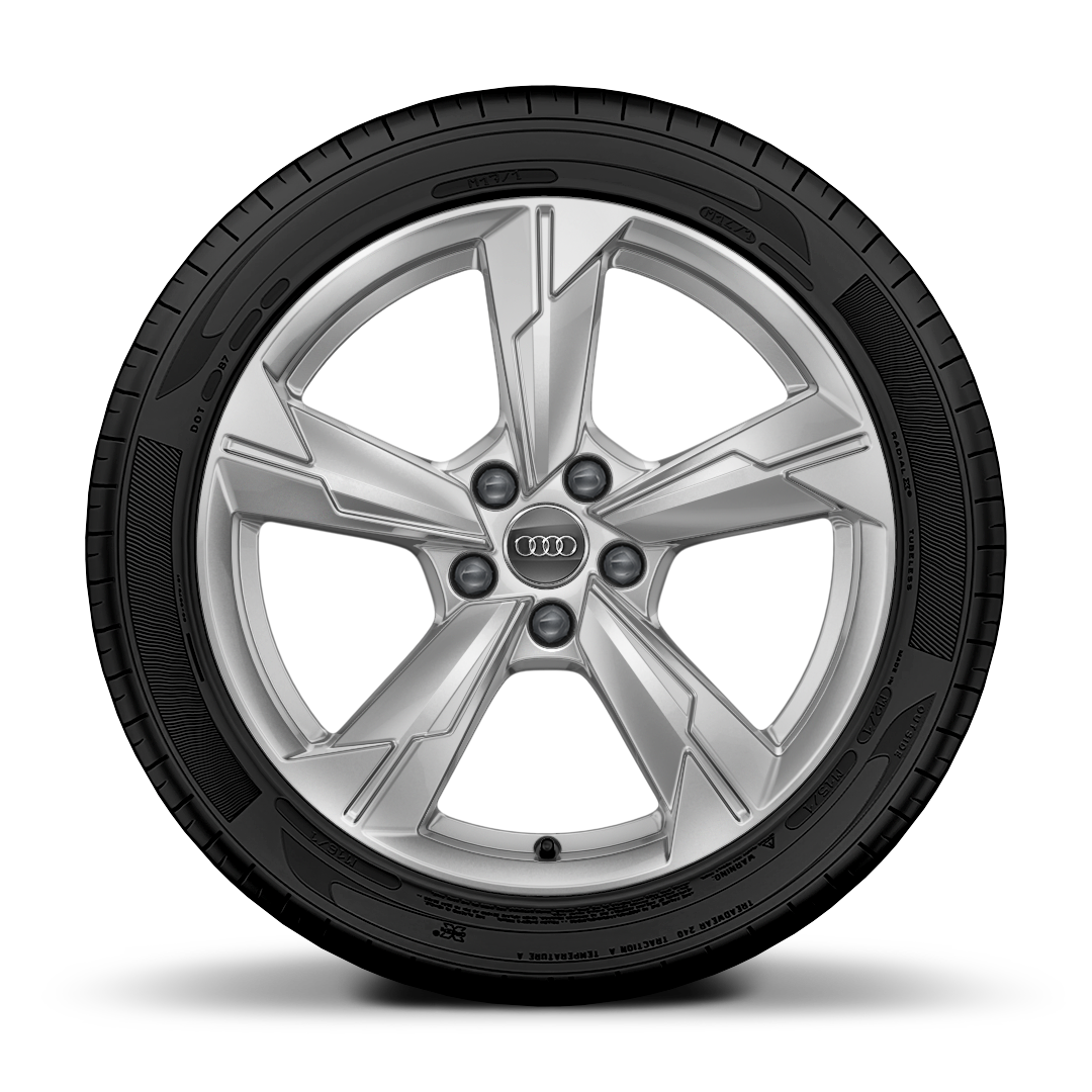 "18"" x 8.0J '5-arm' design alloy wheels with 225/55 R18 tyres"