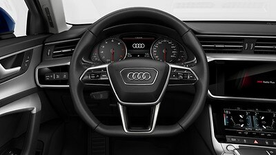 3-spoke leather-trimmed multi-function Flat bottomed steering wheel with gear-shift paddles