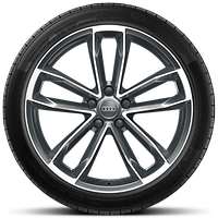 "19"" x 8.5J '5-spoke Cavo' design alloy wheels, contrasting grey, partly polished with 255/35 tyres"