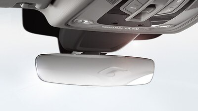 Auto-dimming interior mirror, frameless