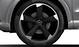 Aluminium-Gussräder Audi Sport im 5-Arm-Rotor-Design, schwarz matt, glanzgedreht, Größe 8,5 J x 20, mit Reifen 255/35 R 20