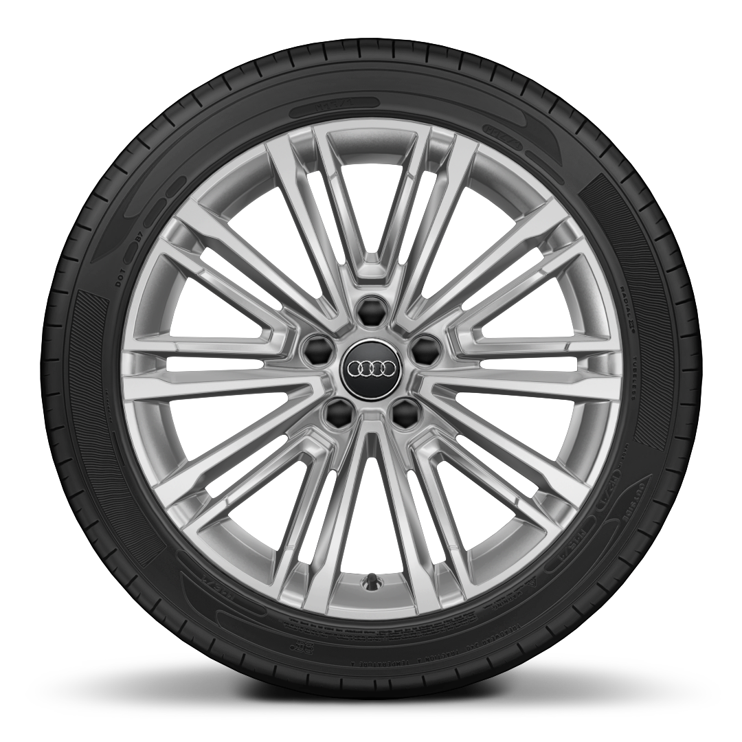 Audi Sport alloy wheels, 10-V-spoke style, 7.5J x 18 with 225/40 R18 tires