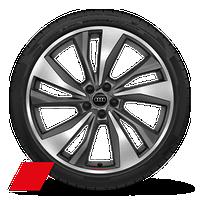 "21"" 5-twin-spoke turbine design wheels, titanium finish"