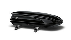 Ski and luggage box, brillant black, 405 l. Also available in platinum grey with black side blades.
