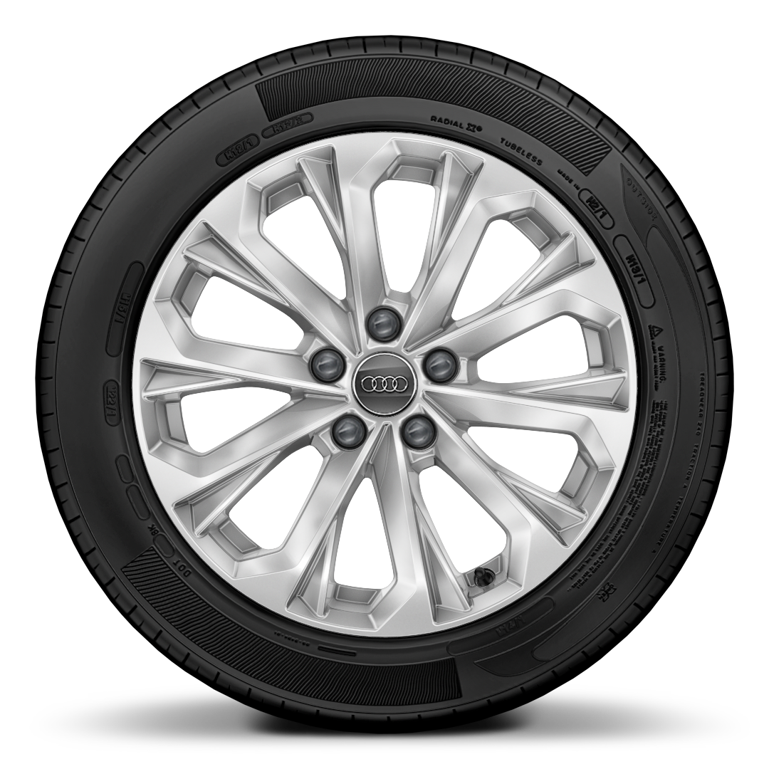 "17"" x 7.5J '10-spoke crystal' design alloy wheels with 225/50 R17 tyres"