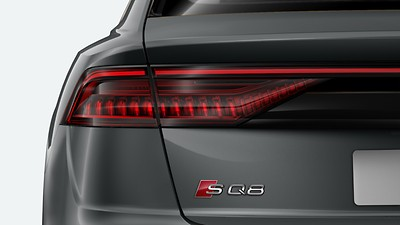 LED rear lights with dynamic light configuration and dynamic indicators