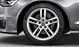 Audi Sport cast aluminium alloy wheels, 5 twin-spoke design, size 8 J x 18, 245/45 R 18 tyres