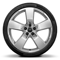 Alloy wheels, 5-arm style (S style), 8.5J x 20, 255/40 R20 tires
