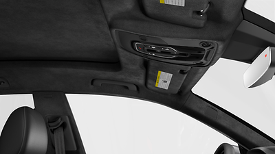 Black Alcantara® headliner