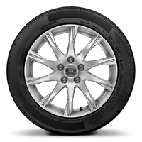 Alloy wheels, 10-spoke style, 7.5J x 17, 225/50 R17 tires