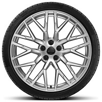 '10-spoke Y design' alloy wheels, diamond cut finish (R20x 8.5J 245/30 front tyres and R20 x 11J 305/30 R20 rear tyres) (Optional)