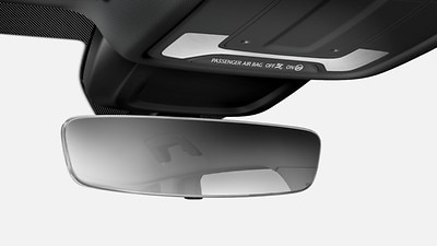 Interior mirror, automatically dimming, frameless