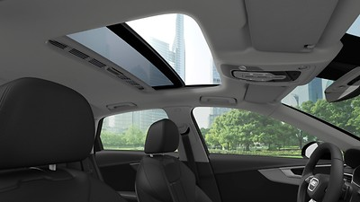 Electric glass sunroof