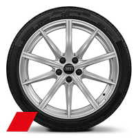 Alloy wheels, 10-spoke star style, 9.0J x 19, 265/35 R19 tires
