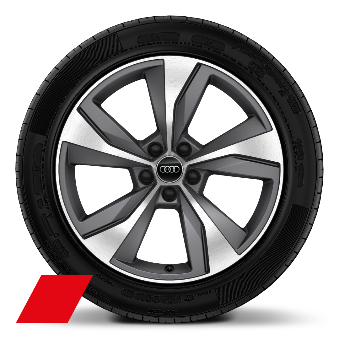 "19"" x 8.0J '10-Y-spoke' design alloy wheels in gloss black, diamond cut finish with 235/40 R19 tyres"