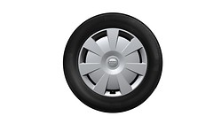 Complete steel winter wheel with full wheel cover, 6.5 J x 16, 205/55 R16 91H, left