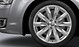Cast aluminium alloy wheels, 10-spoke star design, size 9 J x 20, with 265/40 R 20 tyres