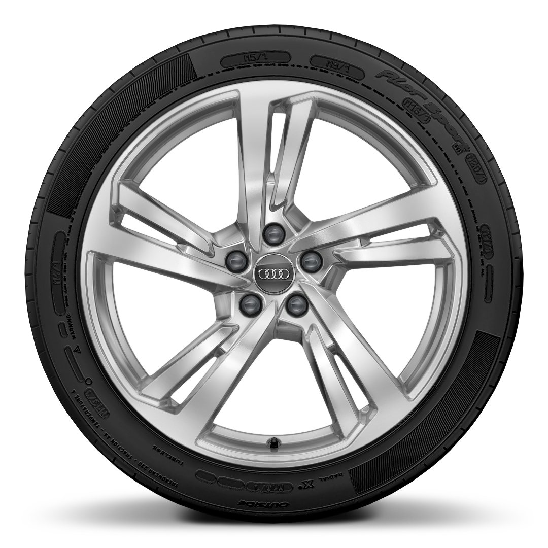 Cast alloy wheels, 5-double-spoke style (S style), 8.5J x 20