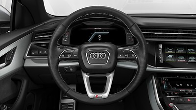 Leather-wrapped, multi-function sport steering wheel, with shift paddles and steering wheel heating