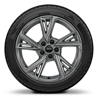 Alloy wheels, 5-double-spoke V-style (S style), Graphite Gray, 8.0J x 18, 225/40 R18 tires
