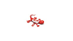 Air freshener gecko, Swiss version, red, spicy