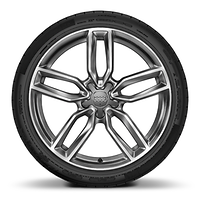 "19"" x 8.0J '5-twin-spoke star' design alloy wheels in contrast grey, diamond cut finish with 235/35 R19 tyres"