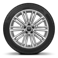 Audi Sport cast alloy wheels, 10-V-spoke style, 8J x 18 with 225/40 R18 tires
