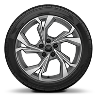 "18"" x 8.0J '5-Y-spoke style', Graphite Grey, diamond cut alloy wheel with  225/40 R18 tires"