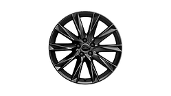 Cast aluminium wheel in 10-spoke lamina design, black-gloss finish, 9 J x 20