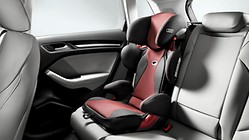 Asiento infantil Audi youngster advanced, Rojo Misano efecto perla/negro