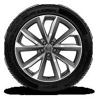 "21"" 5-twin-spoke-V-design, bi-color wheels"