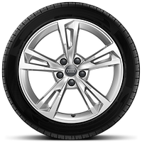 Cast alloy wheels, 5-segment-spoke style, size 8.5J x 18