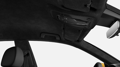 Headliner in Black Alcantara