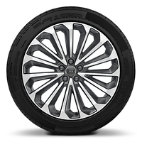 "21"" x 9.0J '15-spoke' design, contrasting grey alloy wheels with 265/45 R21 tyres"