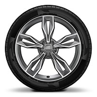 "18"" x 7.5J '5 parallel spoke star S design' alloy wheels with 225/35 R18 tyres"