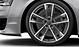 Легкосплавные диски Audi Sport, дизайн «5 двойных рукавов», titan matt, c полированной обводкой, размер 9J x 21