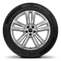 "20"" alloy wheels in 5-parallel spoke design with 285/45 tyres"