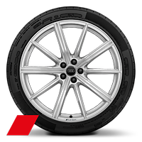 Cast alloy wheels, 10-spoke star style, 10J x 22, 295/40 R22 tires