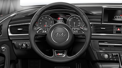 3-spoke leather multi-function Sport steering wheel with gear-shift paddles (automatic models only)
