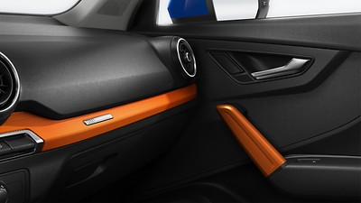 Inlays in anodised paint finish, orange