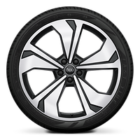 """21"""" 5-arm-V-design wheels, graphite gray with 255/35 summer performance tires"""