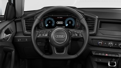 Flat-bottomed 3-spoke multifunction steering wheel including paddleshift