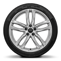 Audi Sport cast alloy wheels, 5-double- spoke style, 9J x 19 with 245/35 R19 tires