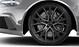 Cast aluminium alloy wheels, 5-V-spoke design, star design in matt titanium look, mach.-pol., size 9.5 J x 21