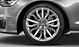 Cast aluminium alloy wheels, 15-spoke star design, size 8.5 J x 19, with 255/40 R 19 tyres